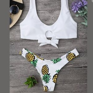 Other - Brand new cheeky pineapple bikini white